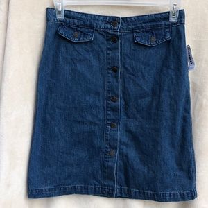 Old Navy Women's Jeans Skirt Button Down NWT